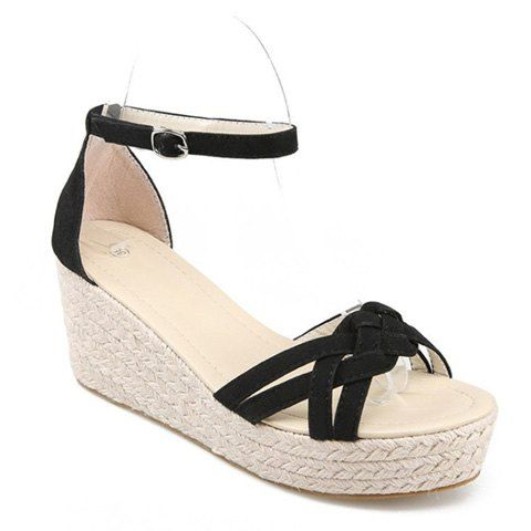 e418067e9b5 Suede Ankle Strap Wedge Sandals