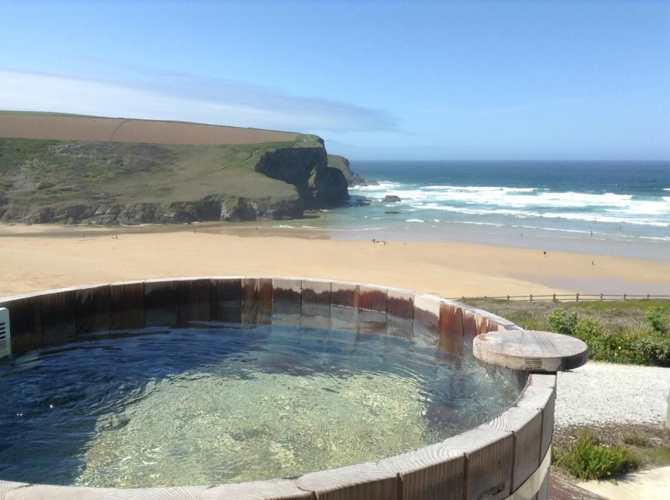 The View From Scarlet Hotel S Hot Tubs Cornwall Review Http