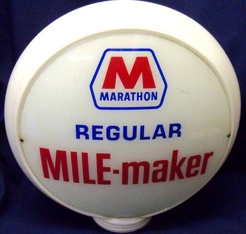 Vintage Marathon Gas Pump Glass Globe