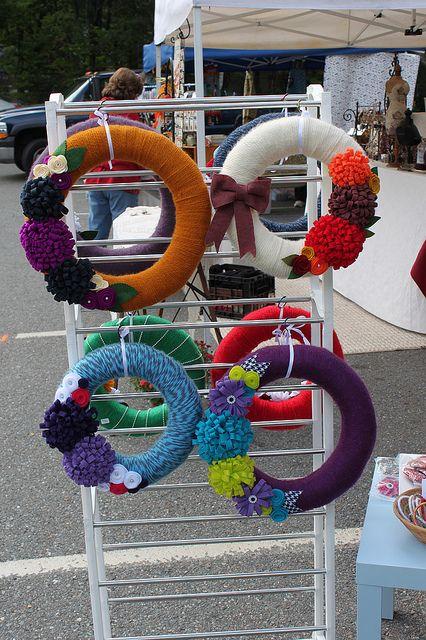 Wreath Display Craft Fairsbooth Ideas Craft Fairs Craft Show