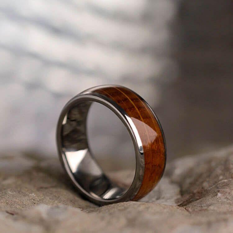 Whiskey Barrel Oak Wood Ring Titanium Wedding Band 3612 In 2021 Titanium Wedding Rings Mens Wedding Rings Titanium Wedding Band Mens