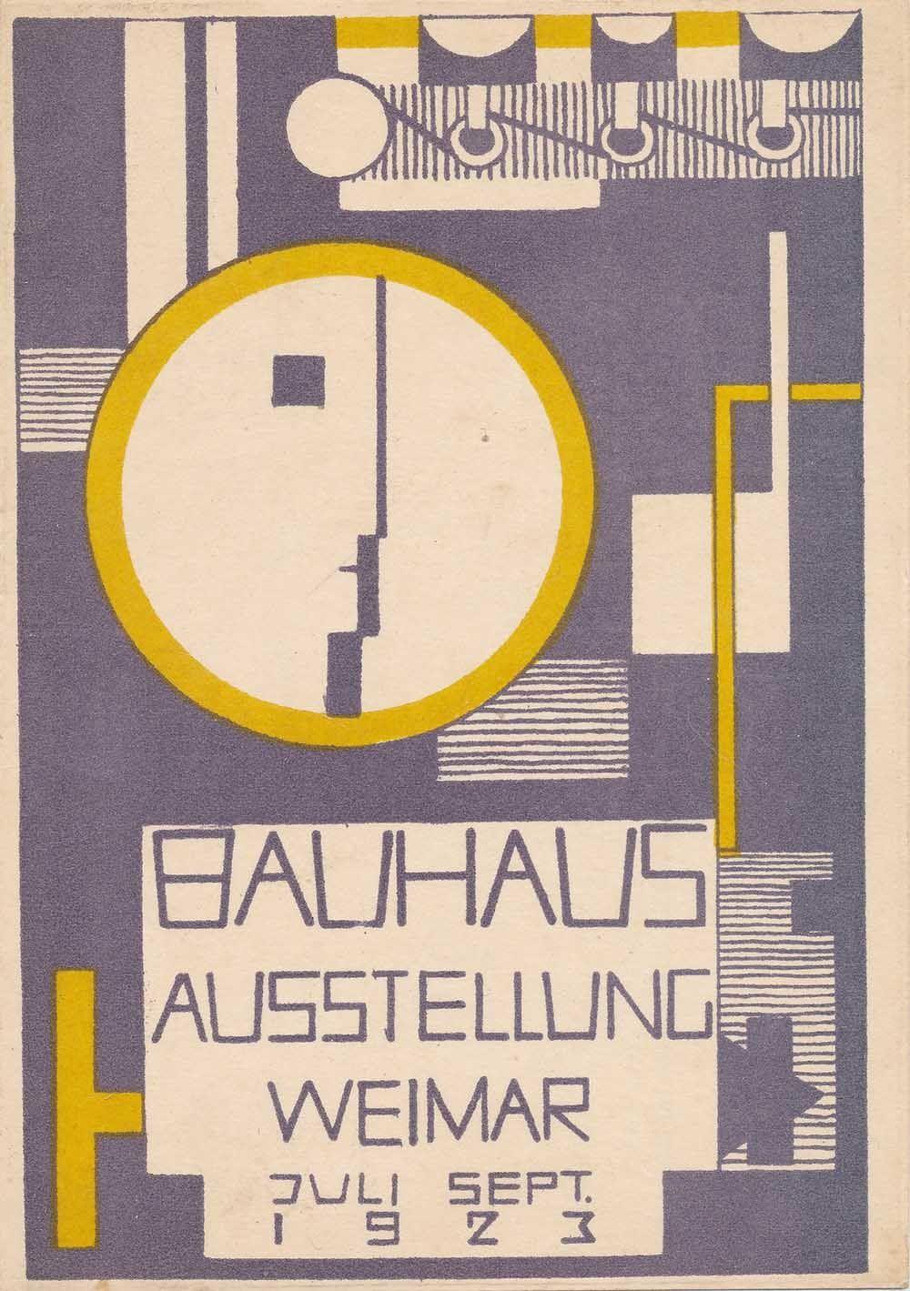 Bauhaus Ausstellung Weimar 1923 Karte 10 In 2020 Ausstellung Weimar Cover Design