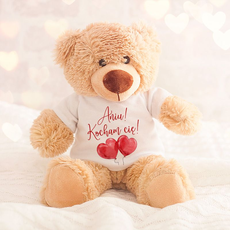 Mis Pluszowy Prezent Na Walentynki Personalizowany Teddy Bear Crafts Decor Crafts