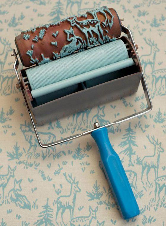 Rouleau peinture motif tissu pratique dr le gadget for Motif peinture