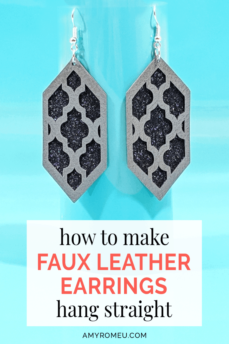 How To Make Faux Leather Earrings Hang Straight Diy Leather Earrings Leather Earrings Leather Diy