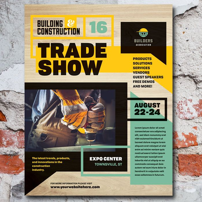 Builders Trade Show Flyer Template Home Improvement Marketing - free product flyer templates