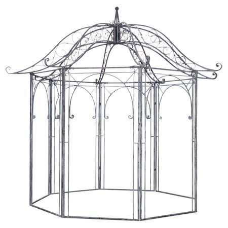 Create A Charming Focal Point In Your Yard With This Metal Garden Gazebo,  Showcasing Scroll Detailing. Product: Gazebo