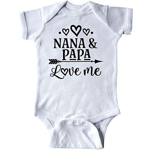 inktastic Nanas Favorite Heart Grandchild Long Sleeve Creeper