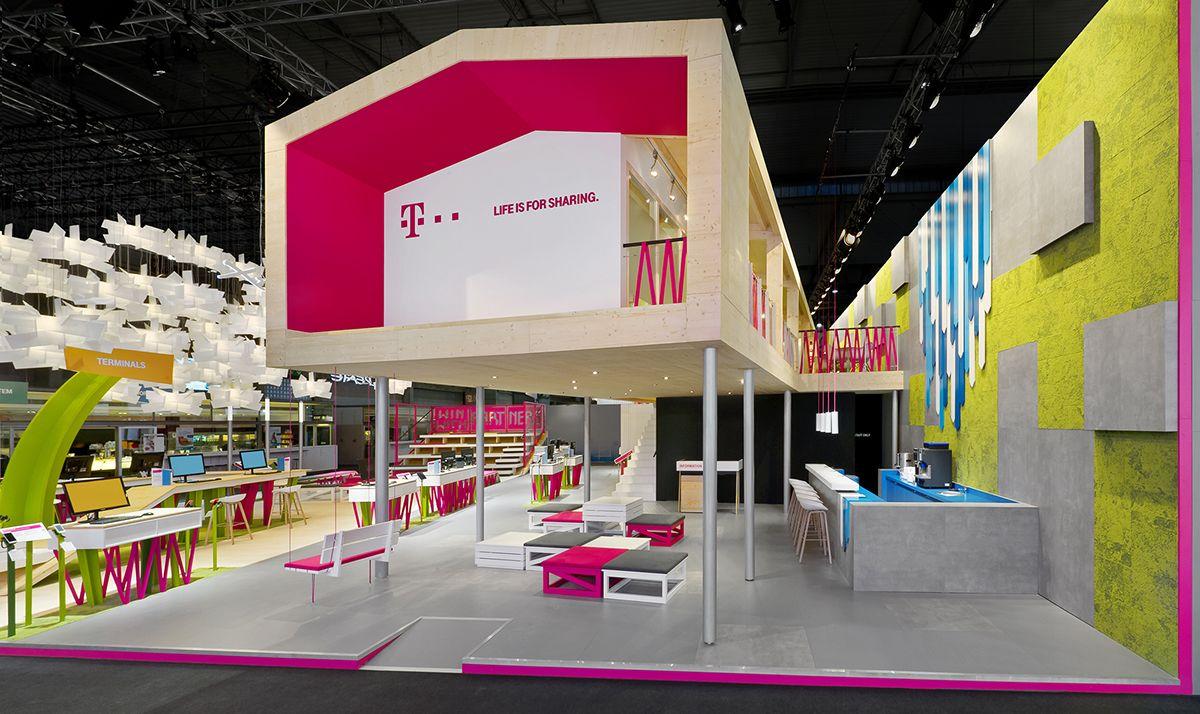 Telekom MWC 2014 on Behance 부스 디자인, 디자인