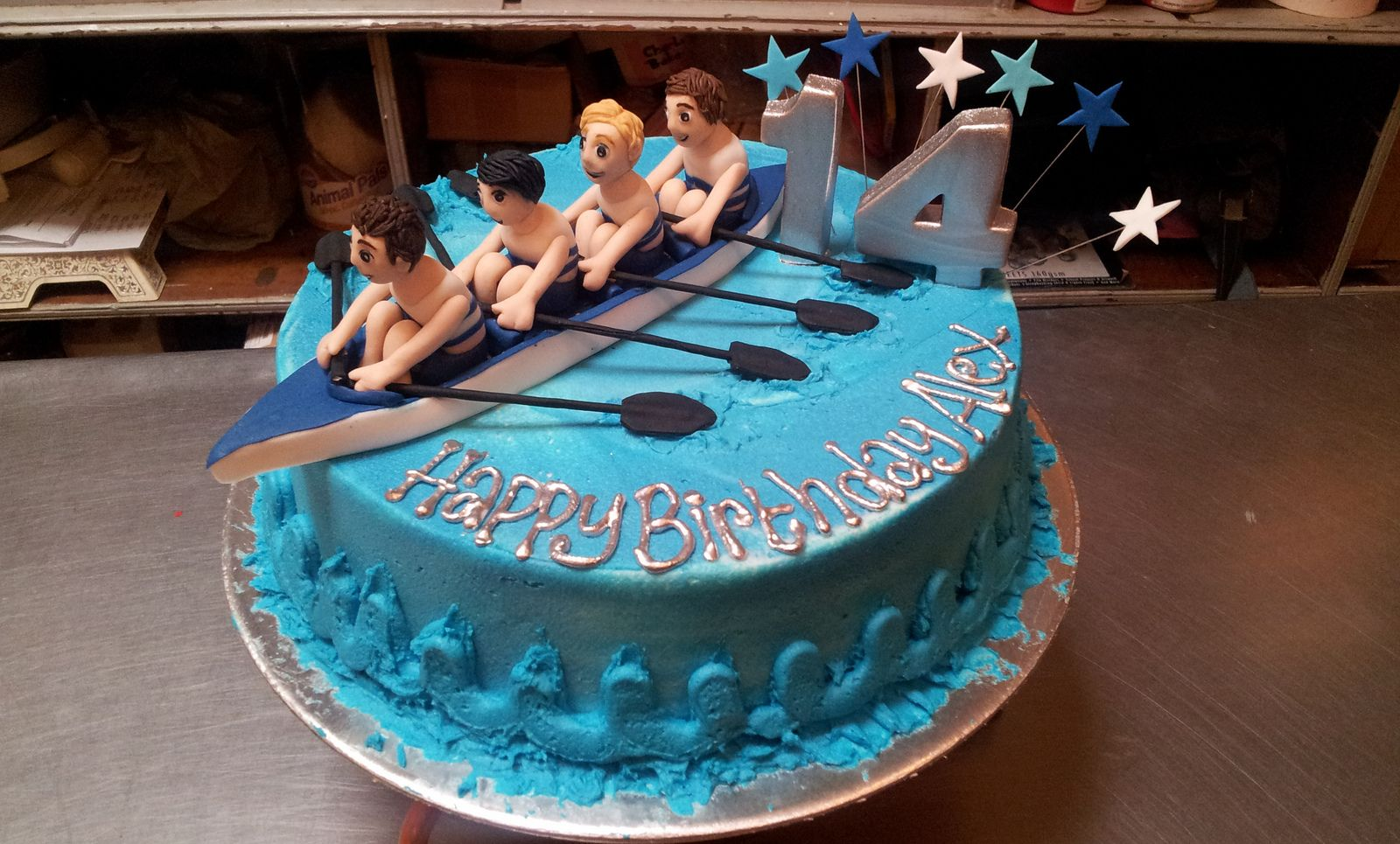 Wicked Chocolate Cake Iced In Blue Butter Icing Decorated