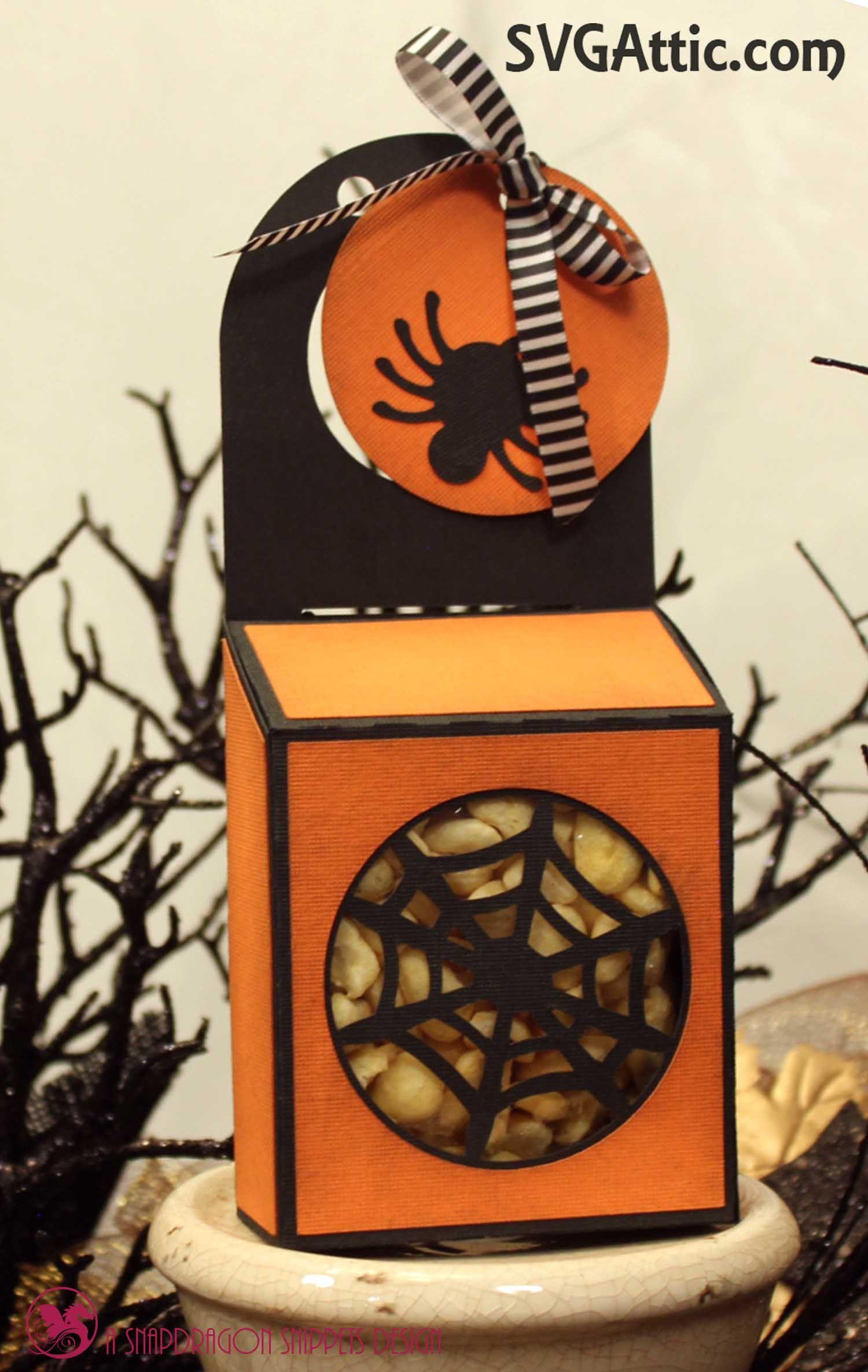 JGW SteampunkHex Spider Web box Halloween SVG svgattic