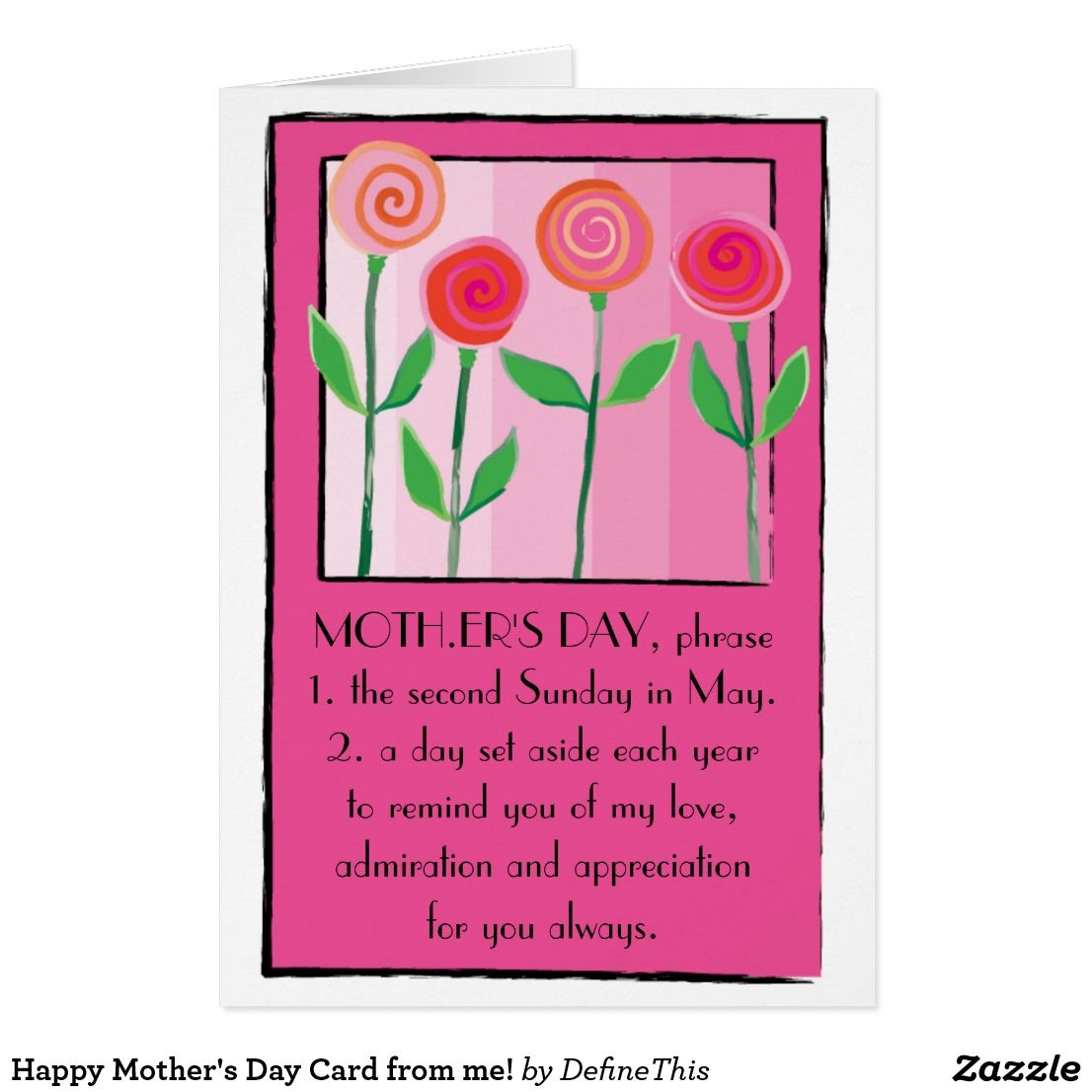 Happy Mother's Day Card from me!
