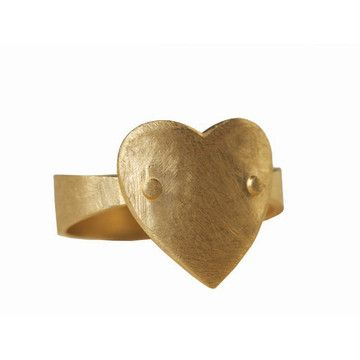My design inspiration: Gold Heart Ring on Fab.