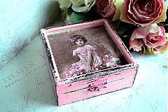 Krabičky - Shabby chic krabička, šperkovnica - 3691523