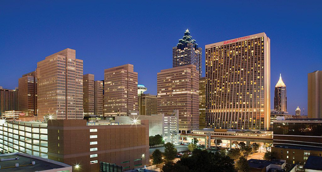 Downtown Atlanta Hotel Marriott Marquis Georgia A Premier Ga