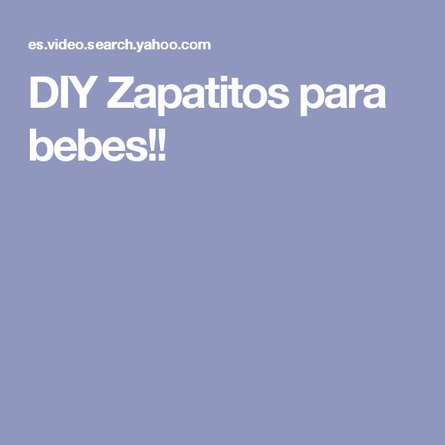 DIY Zapatitos para bebes!!