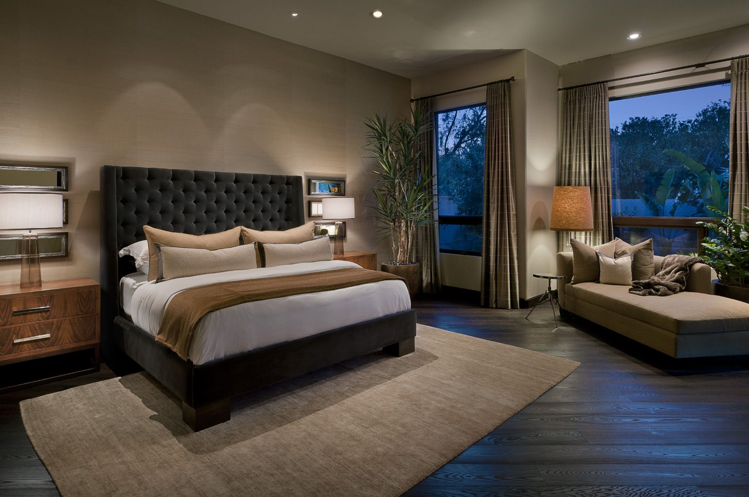 Ownby Design Scottsdale Arizona Interior Designer Modern Master Bedroom Sophisticated Bedroom Contemporary Bedroom