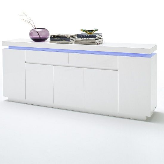 Perfekt Odessa Large Sideboard In High Gloss White Sideboard, Modern Stylish Design  Sideboard Finished In A