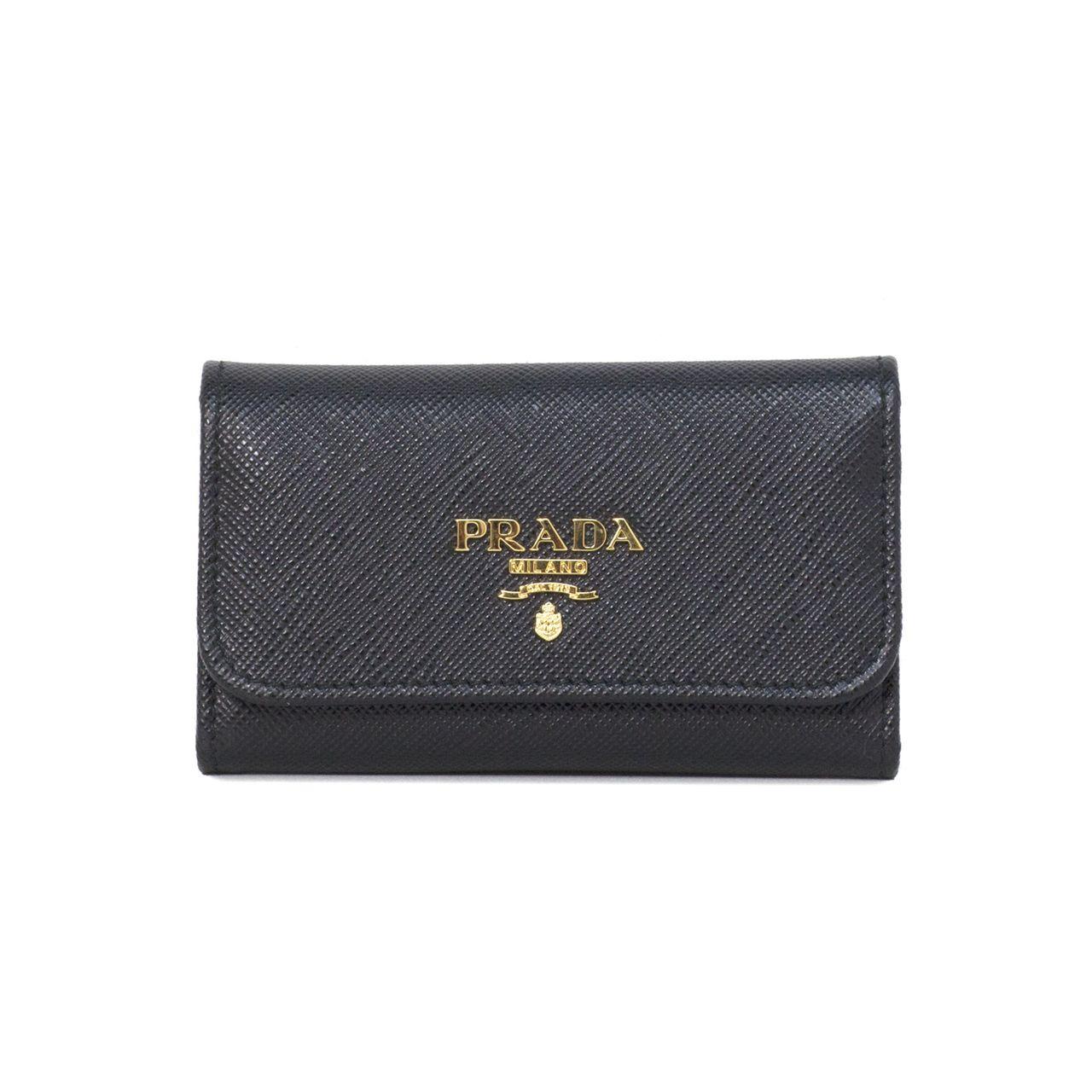 7a4218e35b30 Prada Black Saffiano Key Holder - modaselle | Prada | Prada, Prada ...