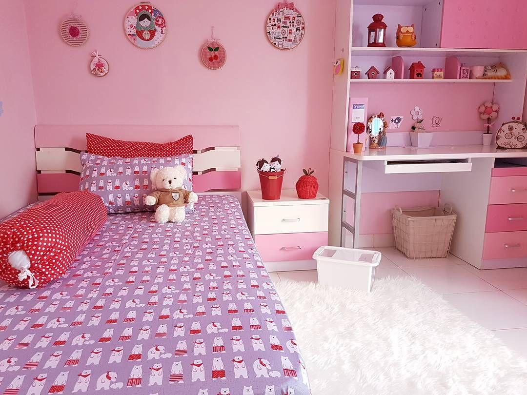 Warna Cat Kamar Tidur Anak Perempuan Pink