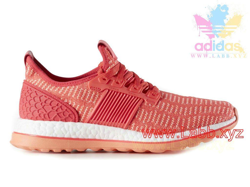 code promo 32c79 125e5 Adidas Running Femme Pure Boost ZG Prime Shock Red Sun Glow ...