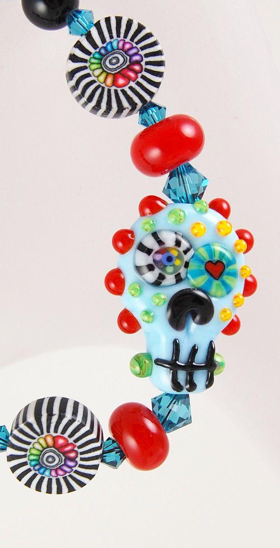 Day of the Dead Dia De Los Muertos Sugar Skull Bracelet