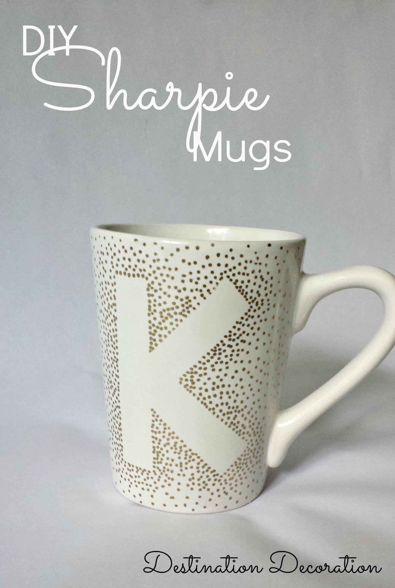 DIY Sharpie Mugs Using Dollar Tree Mugs | Diy sharpie mug ...