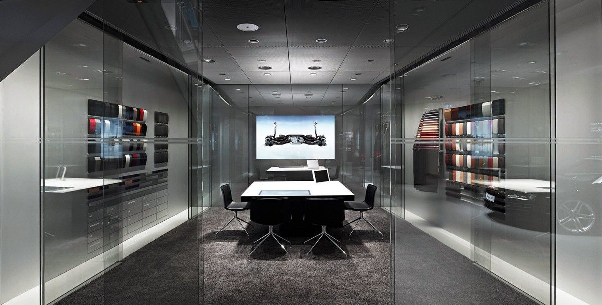 Retail Media Room And Conference Room Using Modern Grey
