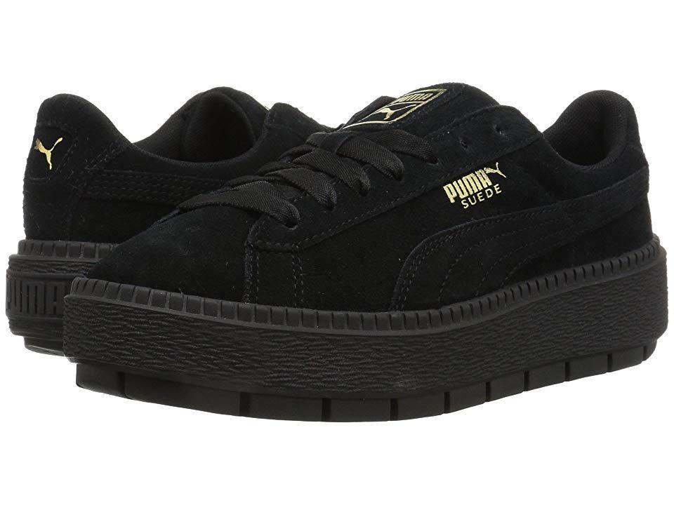 Women's Suede Platform Sneaker puma blackpuma black