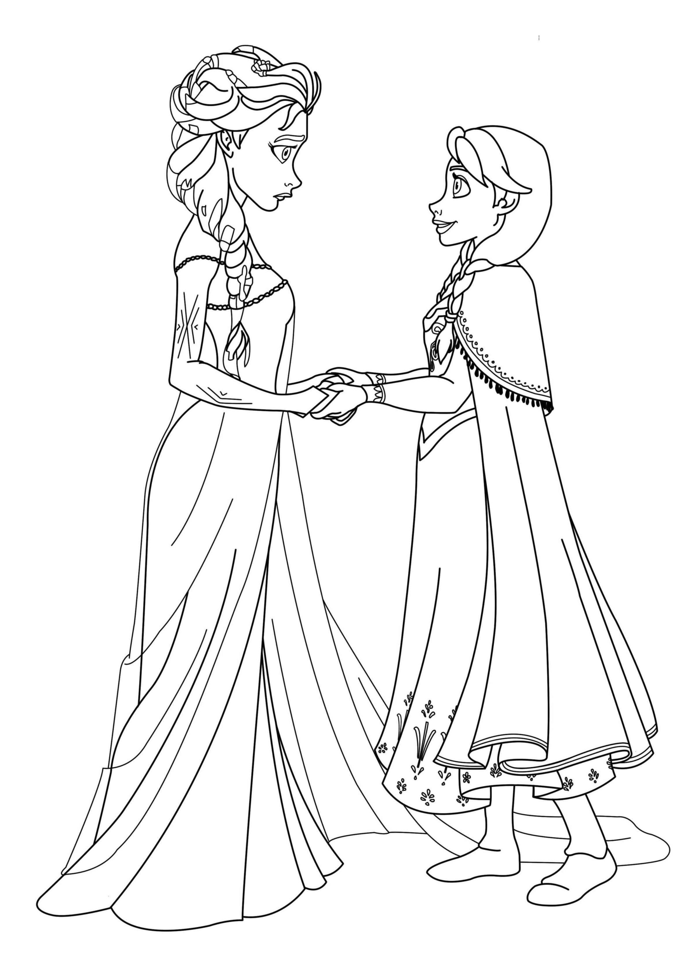 Dibujos de las Princesas de Frozen para pintar | Colorear ... | Para ...