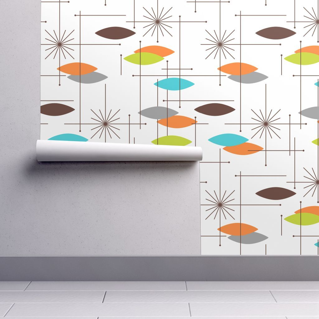 Wallpaper Orbs OGB1WH (large) in 2020 Mid century