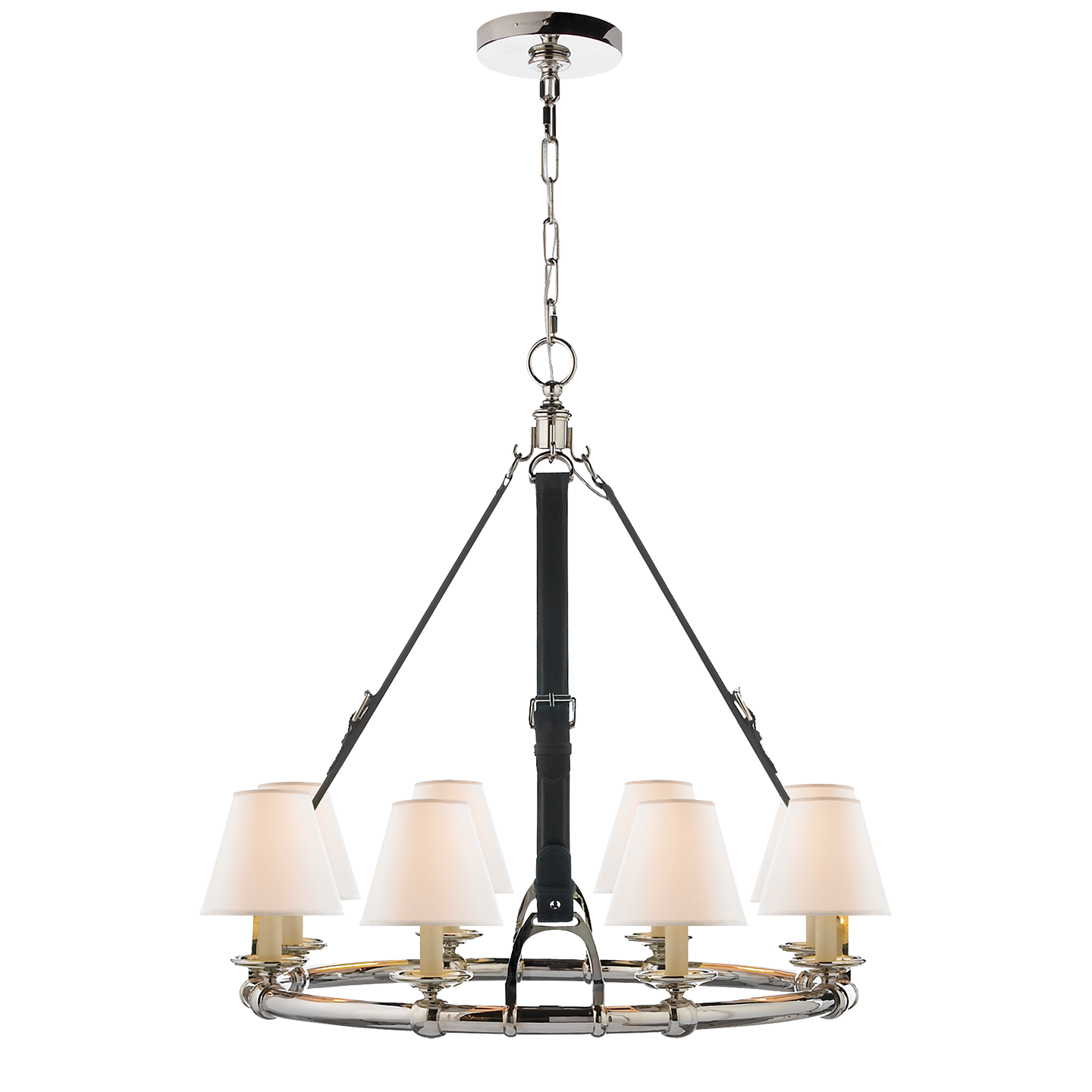 Kitchen Table Lighting Westbury Chandelier Polished Nickel and
