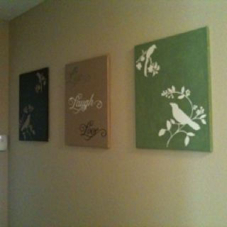 DIY canvas wall art! It's not perfect, but it's mine,..... Literally!