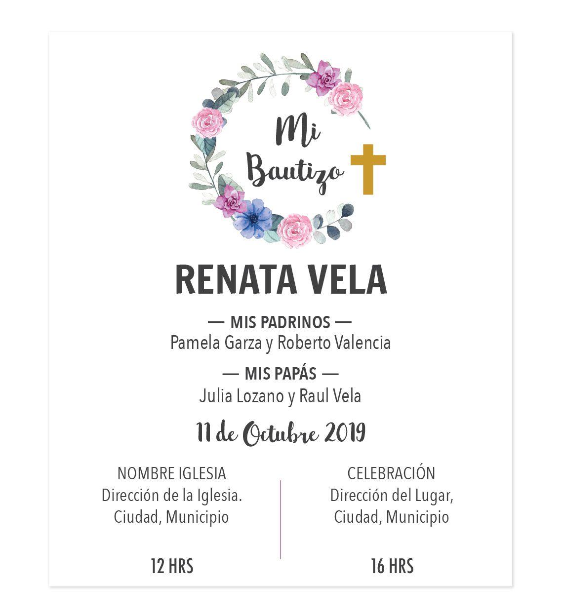 Diseño De Invitación Bautizo Corona Invitaciones Bautizo
