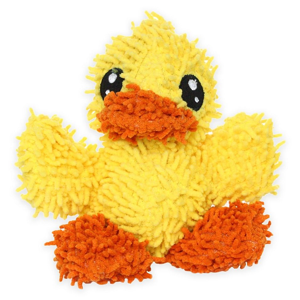 Mighty Pet Toys Junior Duck Squeaker Dog Toy Yellow Pet Toys