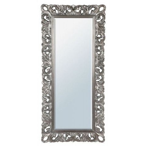 Black & Silver Embellished Full Length Mirror | Silver Large Rococo ...