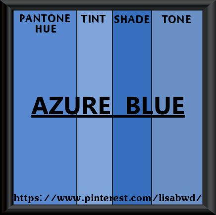 pantone seasonal color swatch azure blue color thesaurus