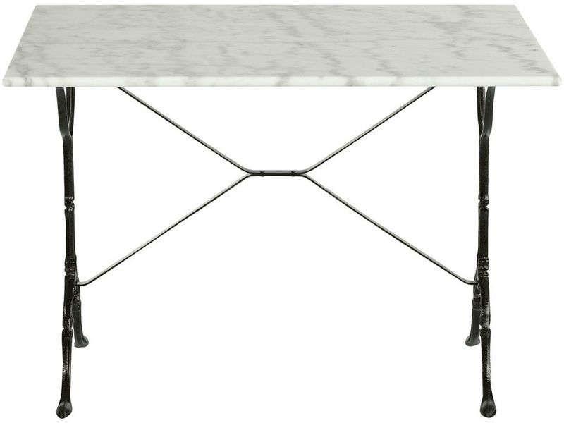 Table rectangulaire en marbre et métal noir Consoles