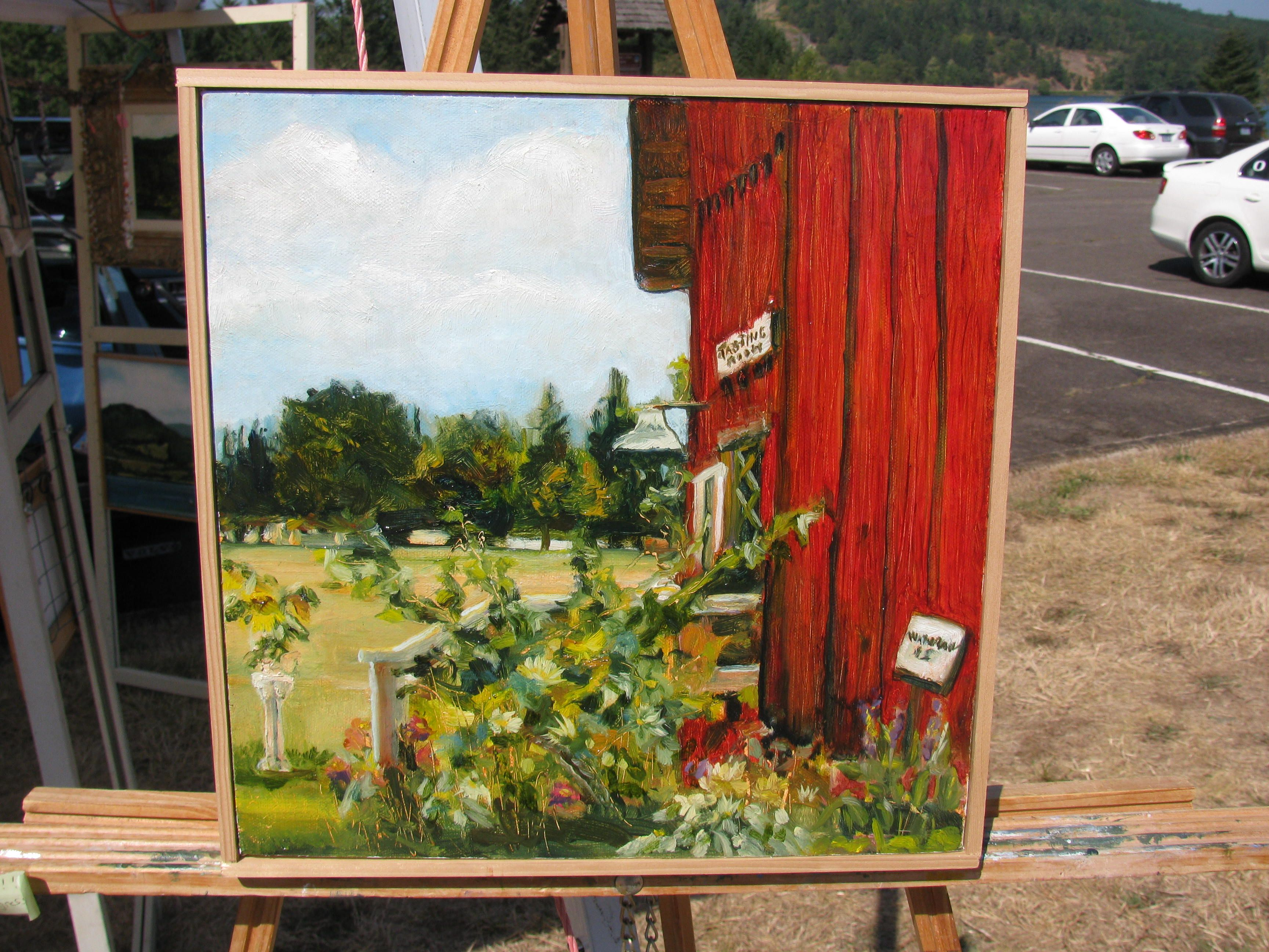 Saginaw Winery Painting Original Oil Painting Oil Painting