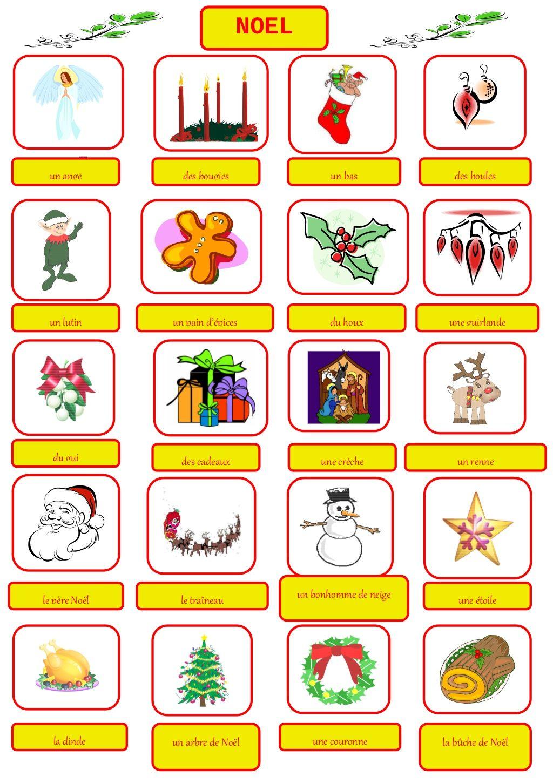 Vocabulaire Noel