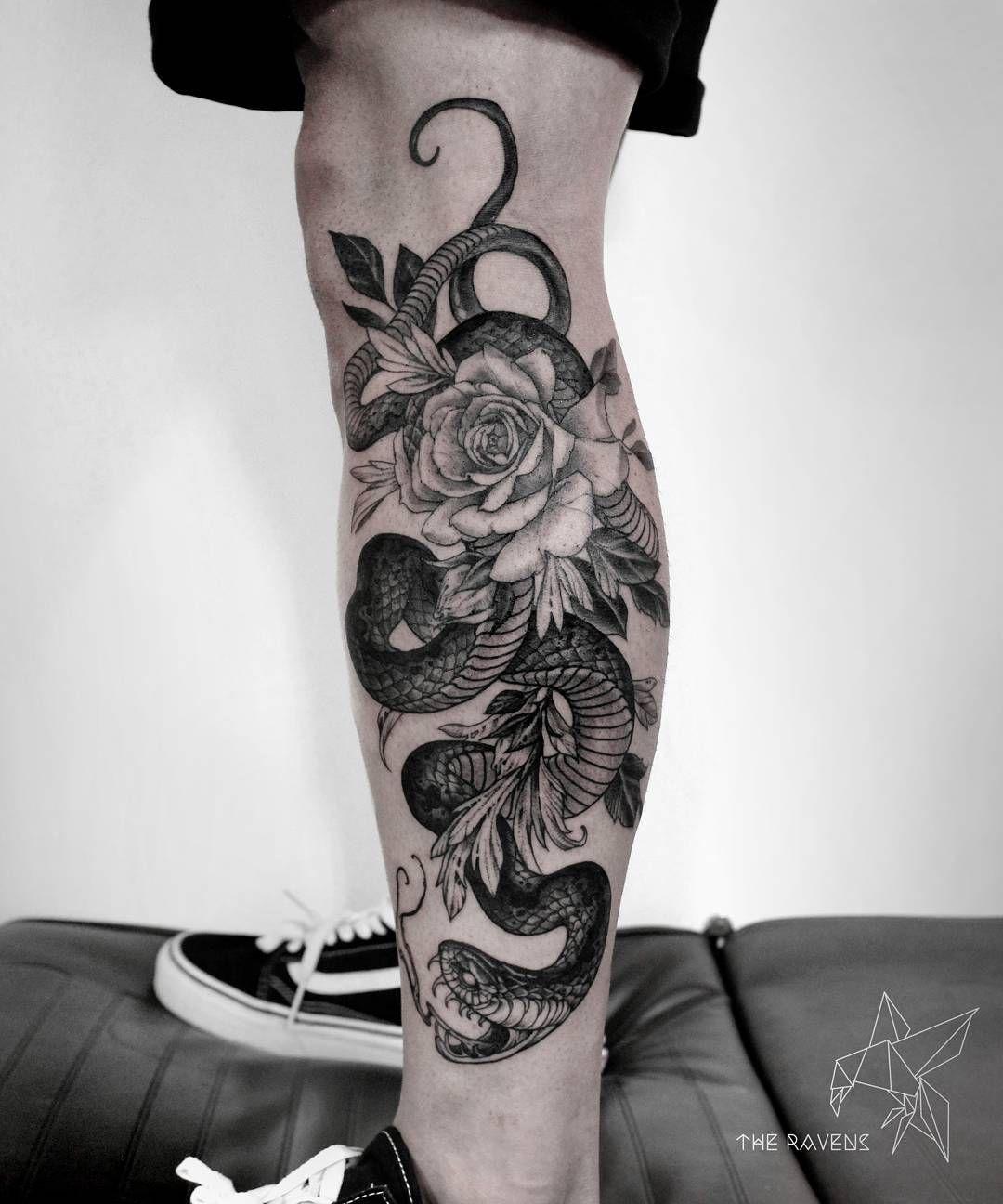 Rattlesnake Wrapped Around Leg Tattoo: 35 Amazing Rattlesnake Tattoo Designs Ideas (2019)
