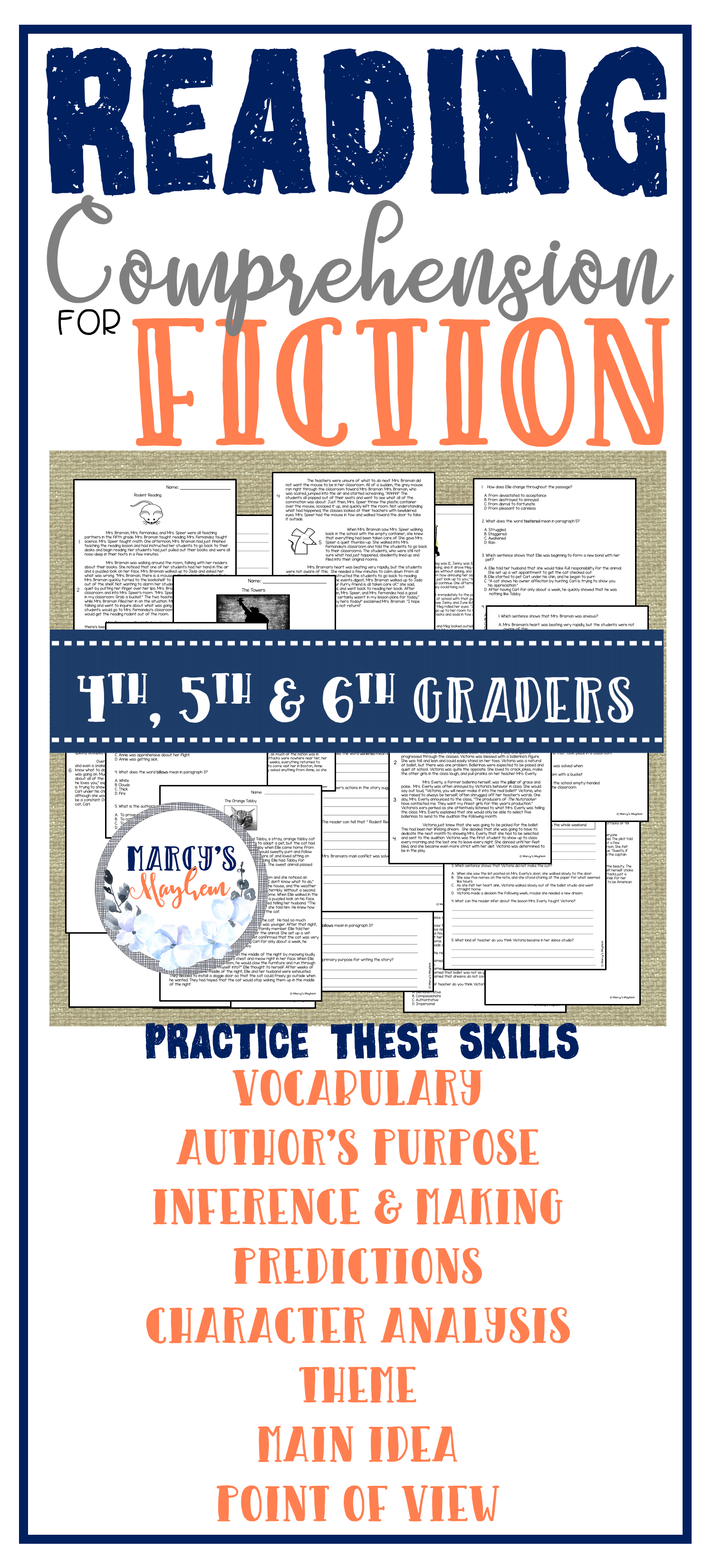 Show Your Students How To Use Context Clues Make Predictions Find The Main Idea Author Reading Comprehension Reading Comprehension Passages Authors Purpose [ 3300 x 1500 Pixel ]