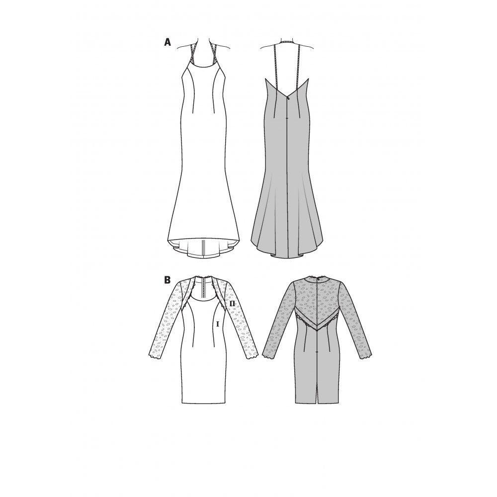 Burda 6994 Patrones de costura para vestido de fiesta, tallas 32 a ...