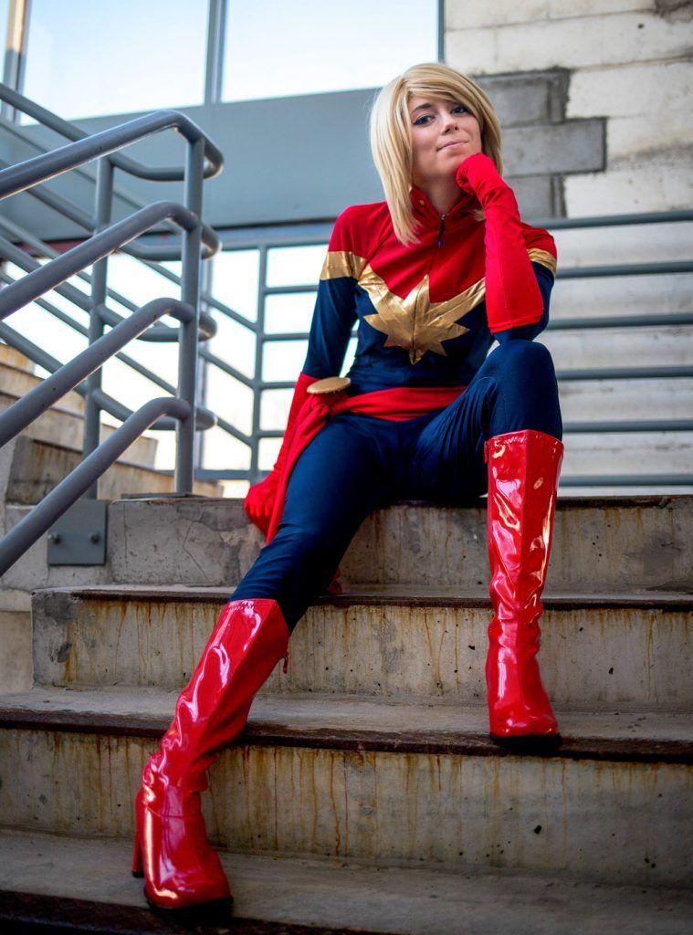 Captain Marvel Halloween Costume Womens