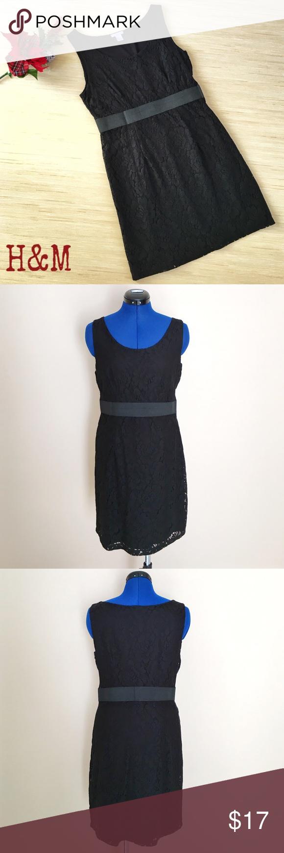 H M Sleeveless Black Lace Dress Size 12 Clothes Design Perfect Little Black Dress Fashion Design [ 1740 x 580 Pixel ]