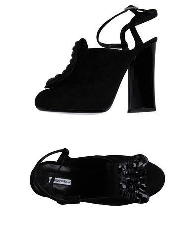 EMPORIO ARMANI Women's Mules Black 8 US