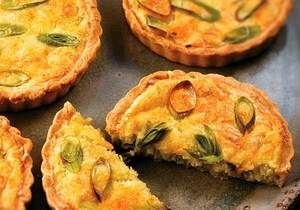 Mini quiche de alho-poró