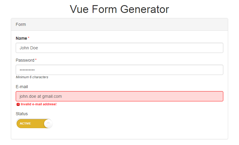 A Vue Form Generator Component That Makes Writing Forms A Breeze