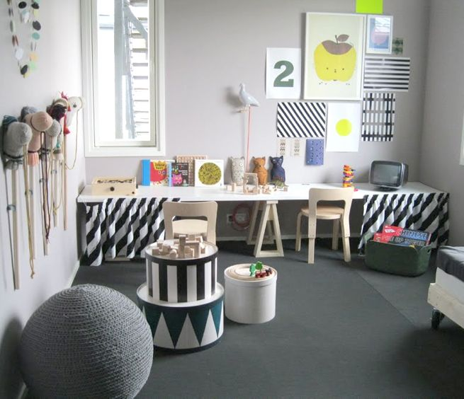 black and white kid's room from www.kidsroom.dk //  www.kid-a.gr