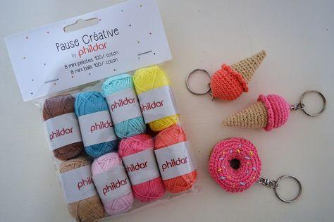 Glace au crochet glace crochet tuto porte clef amigurumi dinette au crochet - Porte cle crochet ...